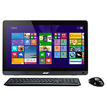 "Buy Acer Aspire ZC-107 All-in-One Desktop PC, AMD E2, 4GB RAM, 1TB, 19.5"", Black Online at johnlewis.com"