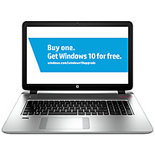 "Buy HP Envy 17-k201na Laptop, Intel Core i7, 12GB RAM, 1TB + 8GB SSD, 17.3"", Silver Online at johnlewis.com"