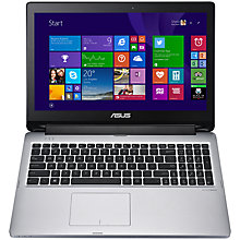 "Buy Asus Transformer Book Flip TP550LA Convertible Laptop, Intel Core i5, 8GB RAM, 750GB, 15.6"" Touch Screen, Black & Silver Online at johnlewis.com"