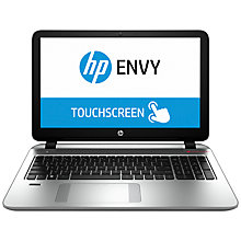 "Buy HP Envy 15-k204sa Laptop, Intel Core i7, 16GB RAM, 256GB SSD, 15.6"" Touch Screen, Silver Online at johnlewis.com"