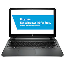 "Buy HP Pavilion 15-p264na Laptop, AMD A10, 8GB RAM, 1TB, 15.6"", Silver Online at johnlewis.com"