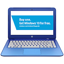 "Buy HP Stream 13 Laptop, Intel Celeron, 2GB RAM, 32GB Flash Storage, Windows 8.1 & Office 365, 13.3"" Touch Screen Online at johnlewis.com"