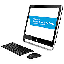 "Buy HP Pavilion 23-g350na All-in-One Desktop PC, Intel Core i5, 8GB RAM, 1TB, 23"", Black Online at johnlewis.com"