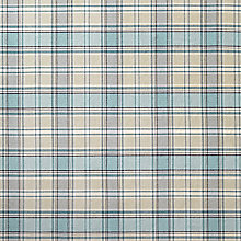 Buy John Lewis Orla Check Fabric, Duck Egg, Price Band D Online at johnlewis.com