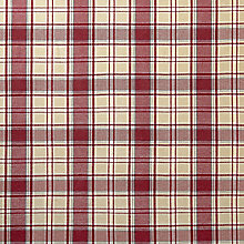 Buy John Lewis Orla Check Fabric, Cranberry, Price Band D Online at johnlewis.com