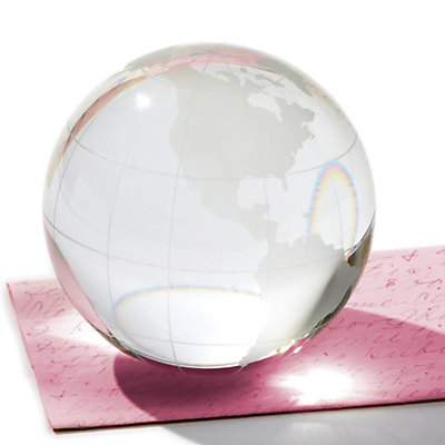 Two's Company World View Globe Paperweight
