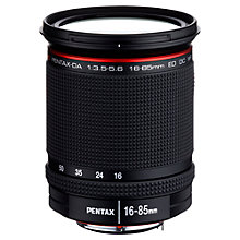 Buy Pentax HD DA 16-85mm f/3.5-5.6 ED DC WR Wide Angle Zoom Lens Online at johnlewis.com