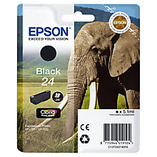 Buy Epson Elephant T2421 Ink Cartridge, Black Online at johnlewis.com