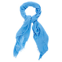 Buy Oasis Textured Bright Scarf, Light Blue Online at johnlewis.com