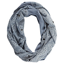 Buy Mint Velvet Bluebell Broderie Snood, Blue Online at johnlewis.com