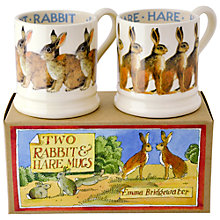 Buy Emma Bridgewater Rabbit and Hare Mugs, Set of 2 Online at johnlewis.com