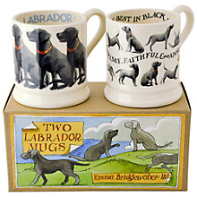 Buy Emma Bridgewater Black Labrador Mugs, Set of 2 Online at johnlewis.com