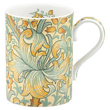 Buy Sanderson William Morris & Co. Golden Lily Slate/Manilla Mug Online at johnlewis.com
