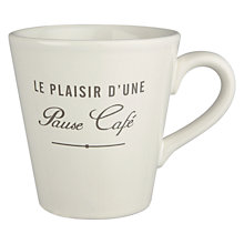 Buy John Lewis Maison Mug with Text Online at johnlewis.com