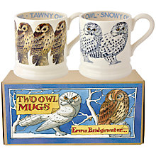 Buy Emma Bridgewater Tawny/Snowy Owl Mugs, Set Of 2 Online at johnlewis.com