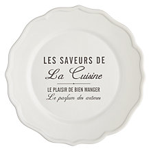 Buy John Lewis Maison Text Dinner Plate Online at johnlewis.com