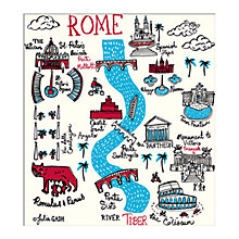 Buy Julia Gash - Rome Unframed Print with Mount, 30 x 40cm Online at johnlewis.com