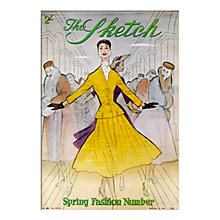 Buy The Sketch Spring Fashion Unframed Print with Mount, 30 x 40cm Online at johnlewis.com