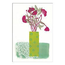Buy Fiona Howard - Green Vase Unframed Print with Mount, 30 x 40cm Online at johnlewis.com