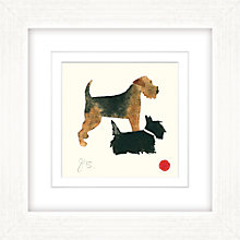 Buy Julia Burns - Red Hen Dogs Framed Potato Print, 35 x 35cm Online at johnlewis.com