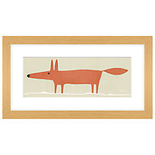 Buy Mr Fox Framed Print, 43 x 23cm Online at johnlewis.com