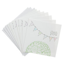 Buy Valerie Valerie Bunting Thank You Note Cards, Pack of 8 Online at johnlewis.com