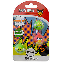 Buy Angry Birds 3D Erasers, Set of 3 Online at johnlewis.com