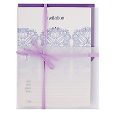 Buy Valerie Valerie Crystal Soiree Invitation Cards, Pack of 10 Online at johnlewis.com