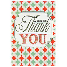 Buy Caroline Gardner Very Big Thank You Note Cards, Pack of 5 Online at johnlewis.com