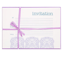 Buy Valerie Valerie Lilac Soiree Invitations, Pack of 10 Online at johnlewis.com