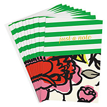 Buy Caroline Gardner Striped Note Cards, Set of 10 Online at johnlewis.com