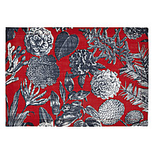 Buy John Lewis Flora Placemat, Red Online at johnlewis.com
