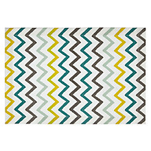 Buy Blue/yellow Zigzag Placemat Online at johnlewis.com