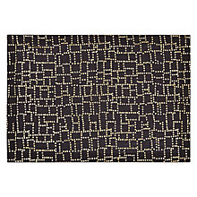 Buy John Lewis Dotty Placemat, Black/Gold Online at johnlewis.com