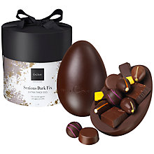 Buy Hotel Chocolat Serious Dark Fix Extra Thick Egg, 390g Online at johnlewis.com