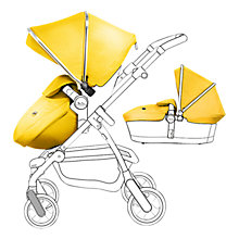 Buy Silver Cross Chrome Pioneer Pushchair Seat, Chassis and Carrycot and Yellow/Chrome Essentials Pack, with Simplicity Infant Carrier Online at johnlewis.com