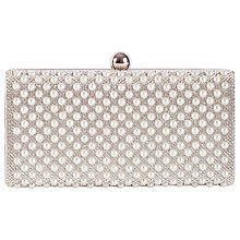 Buy Chesca Ivory Pearl Clutch Bag, Silver Online at johnlewis.com