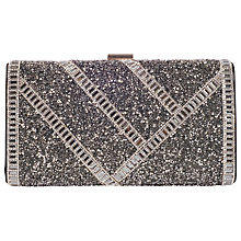 Buy Chesca Metal Embellished Clutch Bag, Silver Online at johnlewis.com