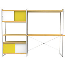 Buy Bisley Stage Double Bay and Desk, Canary/White Online at johnlewis.com
