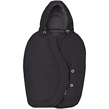 Buy Maxi-Cosi Pebble Baby Car Seat Footmuff, Black Raven Online at johnlewis.com