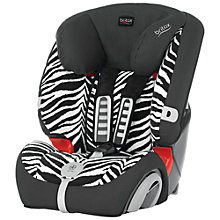 Buy Britax Evolva Plus Group 1/2/3 Car Seat, Zebra Online at johnlewis.com