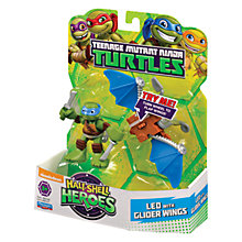 Buy Teenage Mutant Ninja Turtles Half-Shell Heroes: Leo With Glider Wings Online at johnlewis.com
