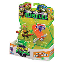 Buy Teenage Mutant Ninja Turtles Half-Shell Heroes: Mikey With Skateboard Online at johnlewis.com