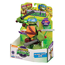 Buy Teenage Mutant Ninja Turtles Half-Shell Heroes: Talking Turtle Leo Online at johnlewis.com