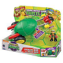 Buy Teenage Mutant Ninja Turtles Half-Shell Heroes: Stealth Bike With Racer Raph Online at johnlewis.com