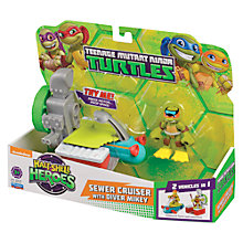 Buy Teenage Mutant Ninja Turtles Half-Shell Heroes: Sewer Cruiser With Diver Mikey Online at johnlewis.com
