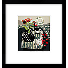 Buy Jane Walker - Spotted Jug With Cherries Framed Print, 54 x 60cm Online at johnlewis.com
