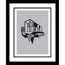 Buy Kristina Dam - Simple House Limited Edition Framed Screenprint, L44 x W45cm Online at johnlewis.com