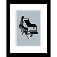 Buy Kristina Dam - A House Limited Edition Framed Screenprint, H34 x W44cm Online at johnlewis.com
