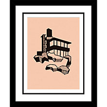 Buy Kristina Dam - Mountain House Limited Edition Framed Screenprint, H44 x W45cm Online at johnlewis.com